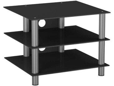 Livetastic: Tisch, Schwarz, Silber, B/H/T 60 45 42