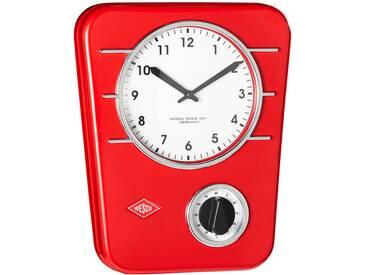 Wesco: Uhr, Rot, B/H/T 5 30,5 24,5