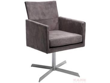 Kare-Design: Drehstuhl, Braun, B/H/T 87 55 55