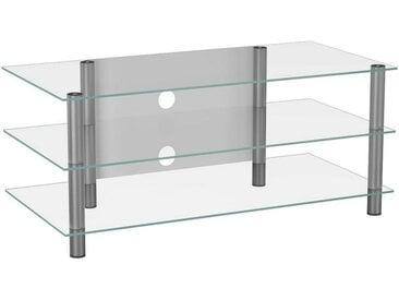 Livetastic: Tisch, Klar, Silber, B/H/T 110 45 42