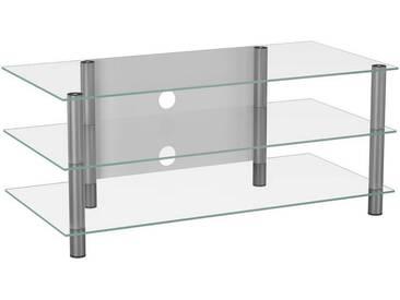 Tisch, Klar, Silber, B/H/T 110 45 42