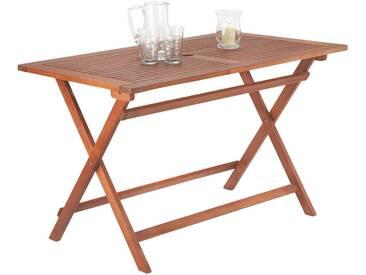 Ambia Garden: Tisch, Eukalyptusholz, Braun, B/H/T 70 74 120