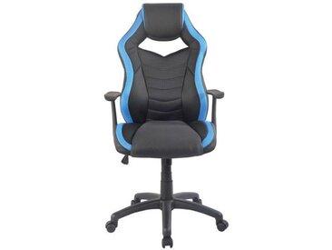 Hom`in: Stuhl, Blau, Schwarz, B/H/T 62 112,5-122 68