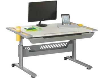 Paidi: Schreibtisch, Gelb, Silber, Weiß, B/H/T 120 79 70