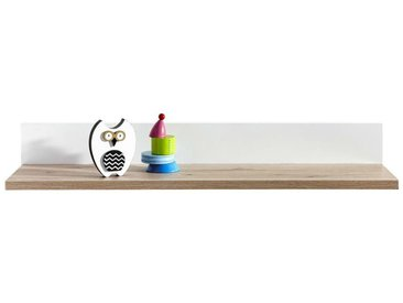 Paidi: Wandregal, Holzwerkstoff, Weiß, Eiche, B/H/T 90 13,9 21,6