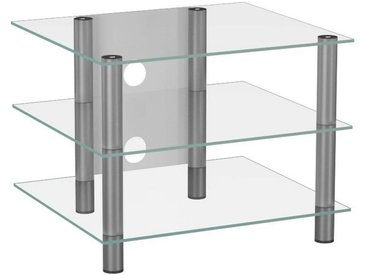 Livetastic: Tisch, Klar, Silber, B/H/T 60 45 42