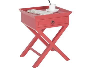 Ambia Home: Beistelltisch, Pappel, Rot, B/H/T 45 55 42
