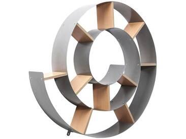 Kare-Design: Wandregal, Holzwerkstoff, Natur, Silber, B/H/T 75 75 13