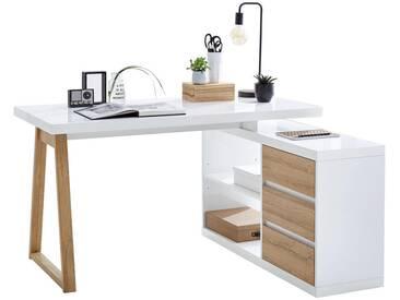 Stylife: Tisch, Eiche, Weiß, B/H/T 135 75 115