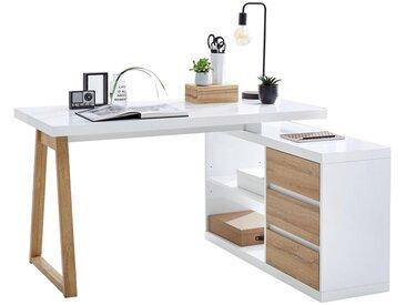 Stylife: Tisch, Weiß, Eiche, B/H/T 135 75 115
