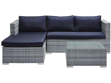 Ambia Garden: Loungegarnitur, Blau, Silber