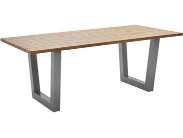 Ambia Garden: Tisch, Grau, Eiche, B/H/T 93,5 73,5 200