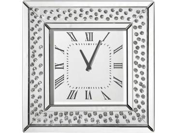 Ambia Home: Uhr, Silber, B/H/T 50,5 50,5 5,3