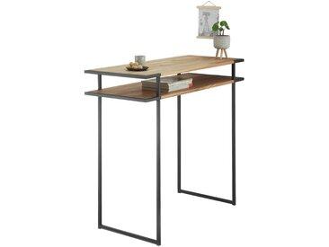 Livetastic: Tisch, Eiche, Schwarz, Eiche, B/H/T 50 105 120