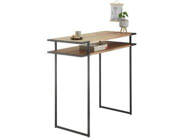 Hom`in: Tisch, Eiche, Schwarz, Eiche, B/H/T 50 105 120