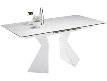 Livetastic: Tisch, Weiß, Hellgrau, B/H/T 90 76 160(210)