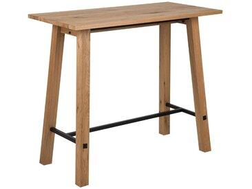 Carryhome: Tisch, Eiche, Schwarz, Eiche, B/H/T 60 105 120