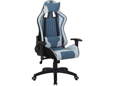 Hom`in: Stuhl, Schwarz, Weiß, Hellblau, B/H/T 70 120-130 74-105