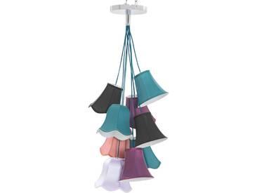 Kare-Design: Hängeleuchte, Blau, Lila, Orange, Schwarz, Weiß, B/H/T 60 116 60