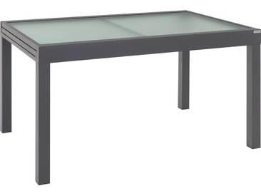 Ambia Garden: Tisch, Anthrazit, Weiß, B/H/T 90 75 135(270)