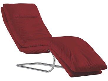 Chilliano: Relaxliege, Rot, B/H/T 65 101 158