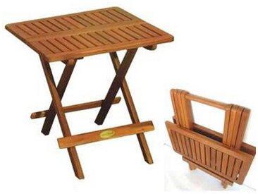 Tisch, Eukalyptusholz, Braun, B/H/T 50 51 50