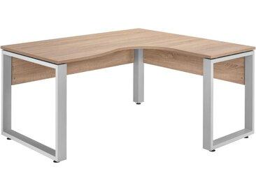 Tisch, Silber, Eiche, B/H/T 160 75 140
