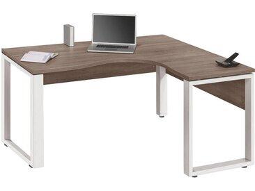 Voleo: Tisch, Weiß, Trüffeleiche, B/H/T 160 75,6 140