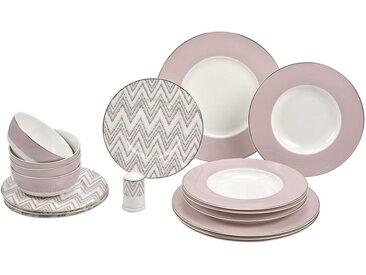 Kombiservice, Weiß, Pink