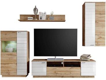Cantus: Wohnwand, Holzwerkstoff, Weiß, Eiche, B/H/T 237 200 47