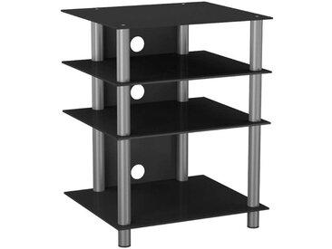Tisch, Schwarz, Silber, B/H/T 54 70 47