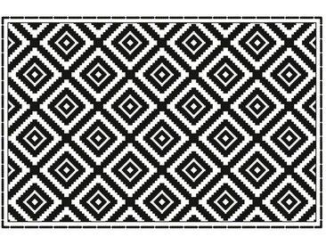 LÄUFER 90/60 cm Schwarz, Weiß