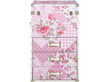 Ambia Home: Kommode, Rosa, Weiß, B/H/T 49 78 35