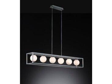 Hängeleuchte, Weiß, Nickel, B/H/T 105 150 16