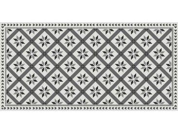 LÄUFER 70/140 cm Grau, Schwarz, Weiß