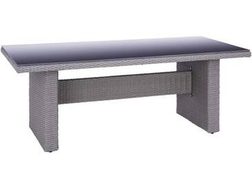 Ambia Garden: Tisch, Grau, Schwarz, B/H/T 100 74 200