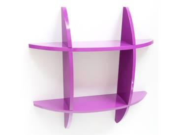 Wandregal Cube Wandboard Retro Regal B³cherregal Regal lila