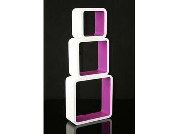 Cube Design Retro Wandregal in Lila