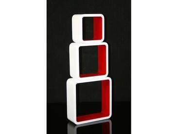 Cube Design Retro Wandregal in Rot