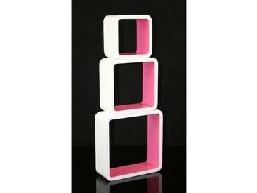 Cube Design Retro Wandregal Pink