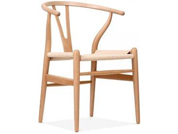 Danish Designs Wishbone Holz Esszimmerstuhl, Natürlicher Gewebten
