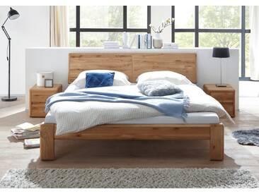 VERONA Bett 200x220 Wildeiche massiv geölt Überlänge