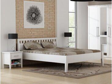 PAULA Komfortbett 160x200 Kiefer massiv weiß