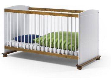 FIORE SET Kinderbett 70x140 Bett Kiefer massiv weiss + Bettseiten für Juniorbett