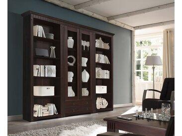 Vitrinenschrank CORDOBA  Farbe Braun Kiefer Holz Breite 262 cm  von Empinio24