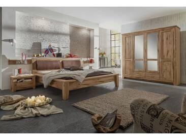 TORONTO Schlafzimmer-Set Schrank 4-trg Bett 180x200 Asteiche
