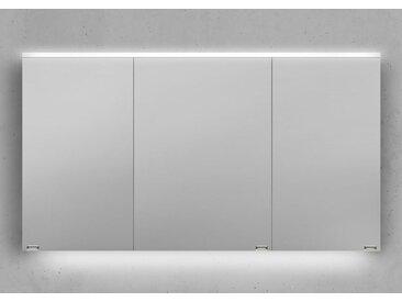 Spiegelschrank 130 cm integrierte LED Beleuchtung doppelt verspiegelt