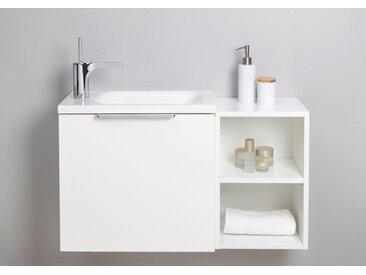 Gäste WC Badmöbel Set, Waschtisch mit Unterschrank, Made in Germany