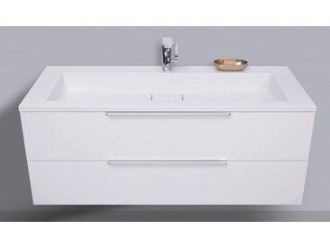 Waschtisch mit Unterschrank Badmöbel Set 120 cm, Evermite Waschbecken, Made in Germany