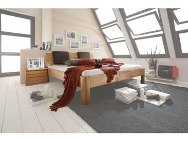 M&H Massivholzbett SYSTEM C, 200x140cm, Kernbuche, Komforthöhe,